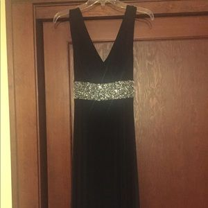 Black and silver party dress, size 8